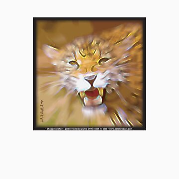 chocachinchay - golden rainbow puma of the west... by drumweaver