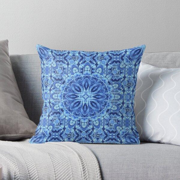 Star Fall - Cold Blue Throw Pillow