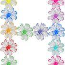 Buchstabe H aus Blumen, floral, Kosmee Blüten von rhnaturestyles