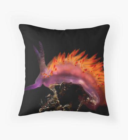 Flaming Tongue Throw Pillow