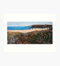 Seaview Cottage Art Print