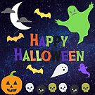 Ghostly Happy Halloween by Kamira Gayle