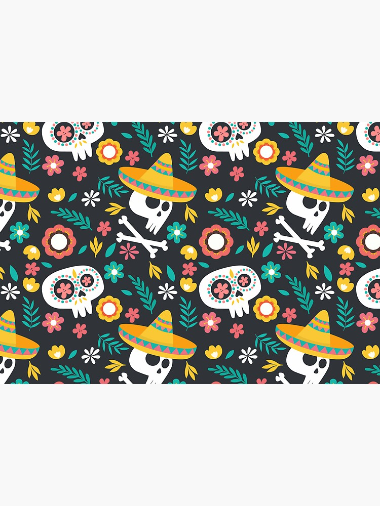 Halloween :  Skulls of the Day of the Dead pattern by Kanae19