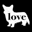 Cardigan Corgi Dog Love - A Minimalist Distressed Vintage Style Design for Dog Lovers by traciwithani