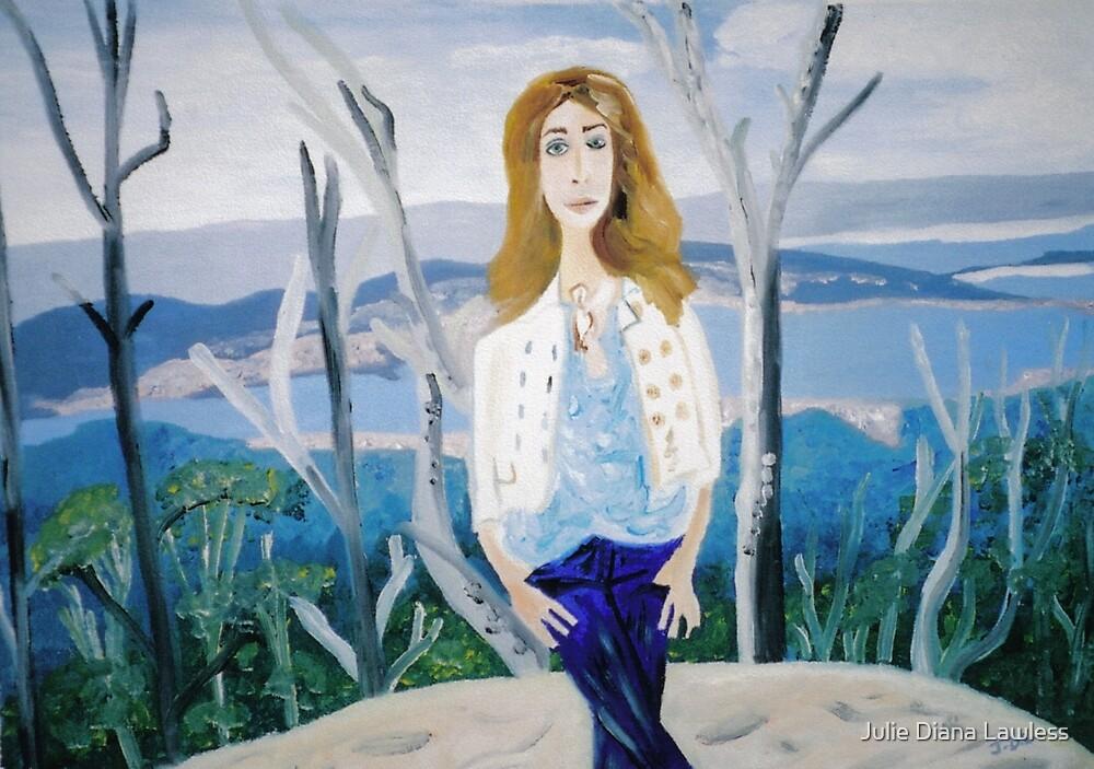 Girl at Sphinx Rock, Mt. Wellington, Tasmania. by Julie Diana Lawless