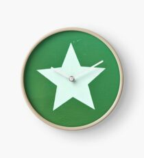 Star with Green Background Clock