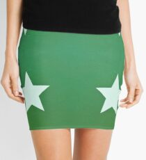 Star with Green Background Mini Skirt
