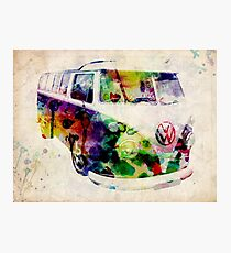 Camper Van Urban Art Photographic Print