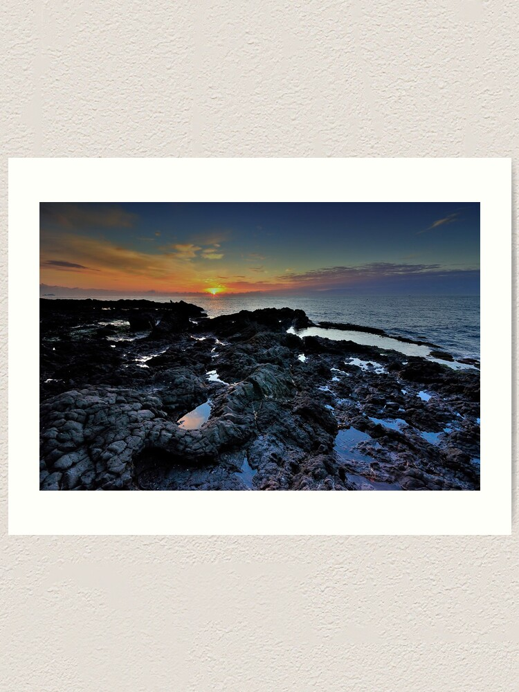 Alternate view of Sunrise with rocks  Art Print