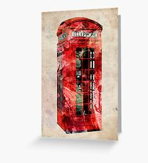 London Telephone Box Urban Art Greeting Card