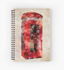 London Telephone Box Urban Art Spiral Notebook