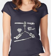 The TIME FLUX CAPACITOR!! Women's Fitted Scoop T-Shirt