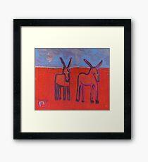 Donkeys Framed Print
