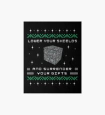 Borg Cube Funny Ugly Christmas Sweater Art Board Print