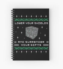 Borg Cube Funny Ugly Christmas Sweater Spiral Notebook