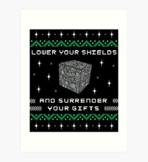 Borg Cube Funny Ugly Christmas Sweater Art Print
