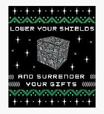 Borg Cube Funny Ugly Christmas Sweater Photographic Print