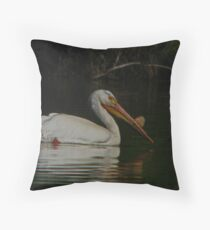 American Pelican Throw Pillow