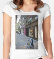 fish & chips Women's Fitted Scoop T-Shirt