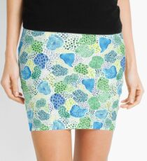 Watercolor Abstract Patch Mini Skirt