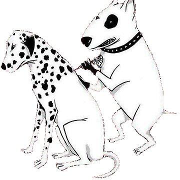 Pittbul tattooing Dalmatian by jaxters