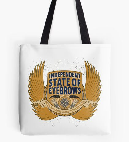 Independent State Of Eyebrows Tote Bag