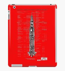 Saturn V Rocket diagram iPad Case/Skin