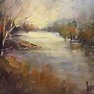 Winter light Werribee river (Australia) by Ivana Pinaffo