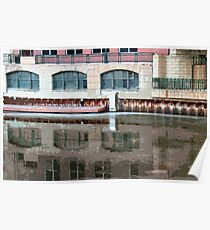 Reflection of Milwaukee River ©  Poster