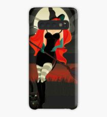Beautiful Witch with a black Cat Case/Skin for Samsung Galaxy
