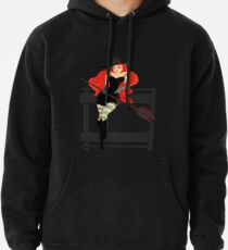 Beautiful Witch with a black Cat Pullover Hoodie
