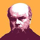 Paul Verlaine Rot Orange Porträt von savantdesigns