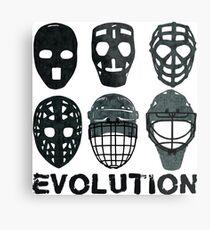 Lámina metálica Hockey Goalie Mask Evolution.
