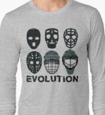 Hockey Goalie Mask Evolution. Long Sleeve T-Shirt e52c01572
