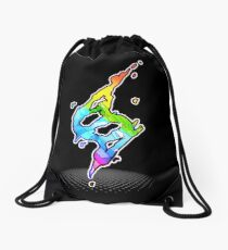 Mega evolution symbol - Charizard X Drawstring Bag