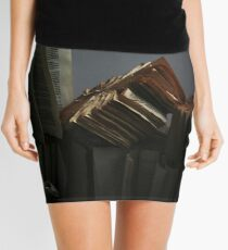Ancient Library #2 Book Flowers Mini Skirt