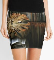 Ancient Library #1 Book Flowers Mini Skirt