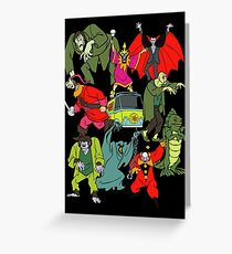 Scooby Doo Villians Greeting Card