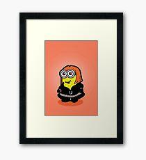 Minvengers - Yellow Widow Framed Print