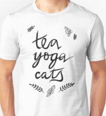 Tea, Yoga, Cats T-Shirt