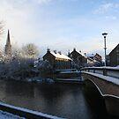 A Church, a bridge and a river by Jan Szymczuk