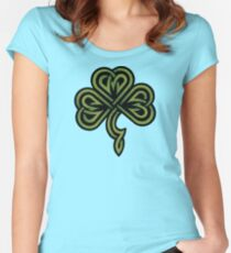 Irish Shamrock Women's Fitted Scoop T-Shirt