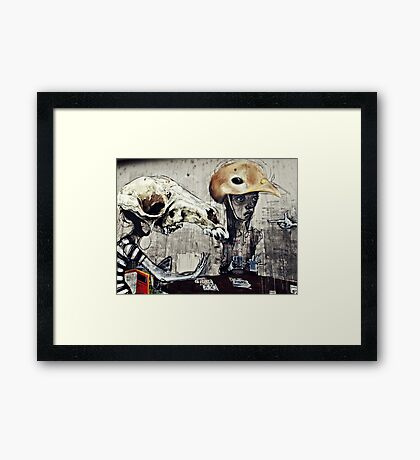 The turn of a friendly card..... Framed Print