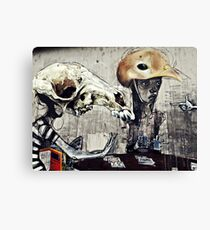The turn of a friendly card..... Canvas Print
