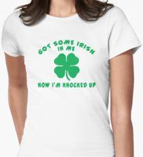 "Pregnant Irish ""Got Some Irish In Me Now I'm Knocked Up"" Women's T-Shirt"