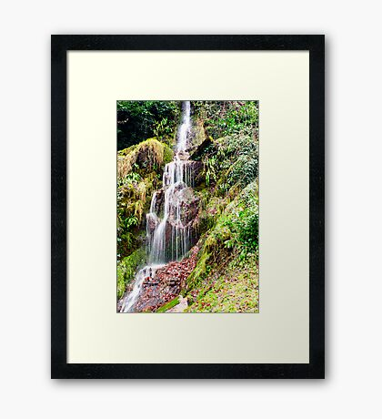 Hestercombe Waterfall Framed Print