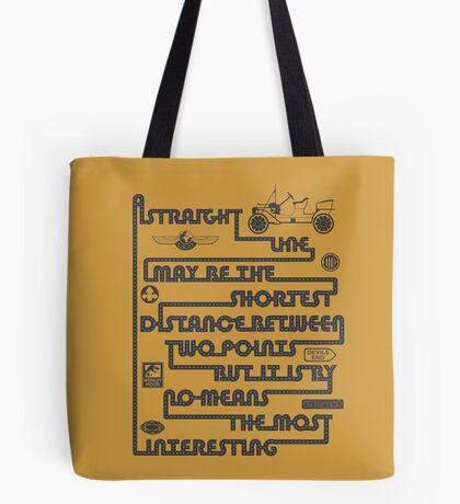 A Straight Line Tote Bag