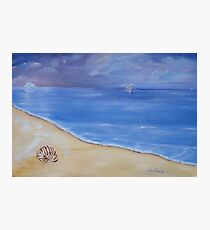 Tranquil, evening sky at the beach. Photographic Print
