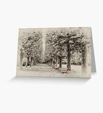 Shinjuku Gyoen Benches Greeting Card