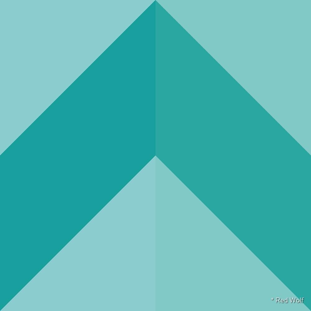 Geometric Pattern: Chevron: Mint by * Red Wolf